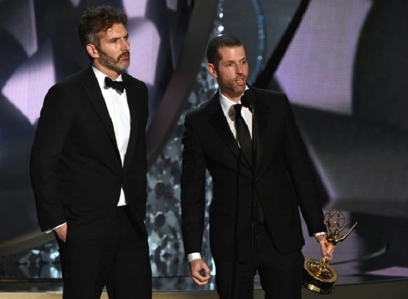 David Benioff (left) and DB Weiss at the Emmys. File picture: AFP/ Valerie Macon