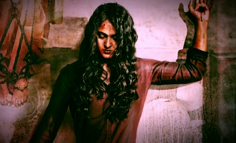 Poster for the movie Bhaagamathie starring Anushka/Image from YouTube.