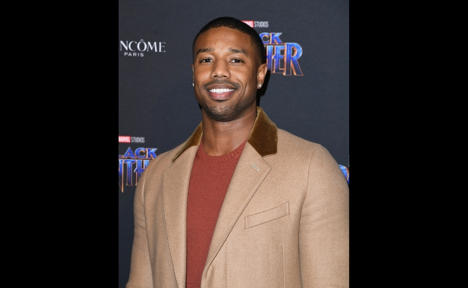 Actor Michael B. Jordan arrives for the Marvel Black Panther fashion week celebration Welcome to Wakanda/ANGELA WEISS/AFP