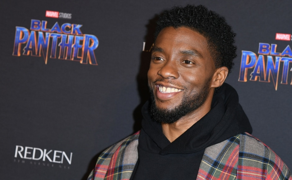 Actor Chadwick Boseman at the Marvel Black Panther fashion week celebration Welcome to Wakanda/ANGELA WEISS/AFP