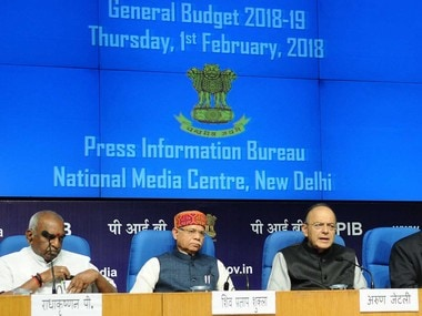 Finance Minister Arun Jaitley addresses a post-Budget press conference in New Delhi. Image courtesy: PIB