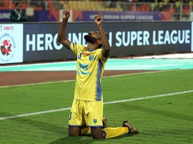 during match 62 of the Hero Indian Super League between FC Pune City and Kerala Blasters FC held at the Shree Shiv Chhatrapati Sports Complex Stadium, Pune, India on the 2nd Feb 2018 Photo by: Sandeep Shetty / ISL / SPORTZPICS