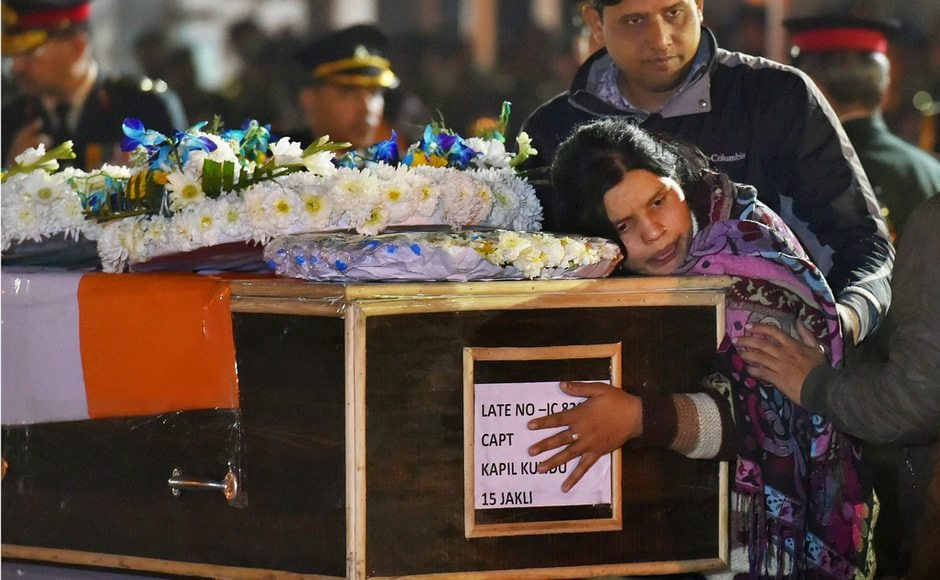 Captain Kundu's mortal remains were brought to AFS Palam in New Delhi on Monday. His sister mourns while paying tribute to him. Family members remember him as a youth full of life, who was not just a brilliant student but also very patriotic. He hailed from Haryana's Gurugram. PTI