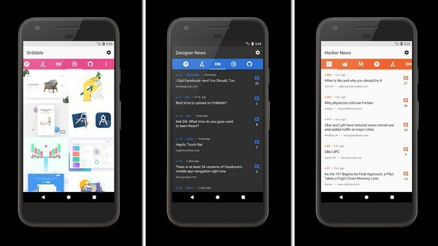 CatchUp is a neat reader which aggregates the best content from popular websites like Medium, GitHub and Reddit. Image: Google Play Store