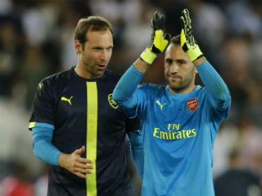 File image of Petr Cech and David Ospina. Reuters
