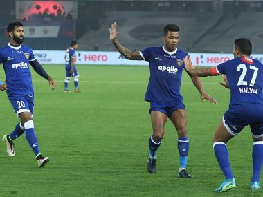 Chennaiyin FC salvaged a draw against De;hi Dynamos to stay in the top four places of the ISL. Image Courtesy: ISL
