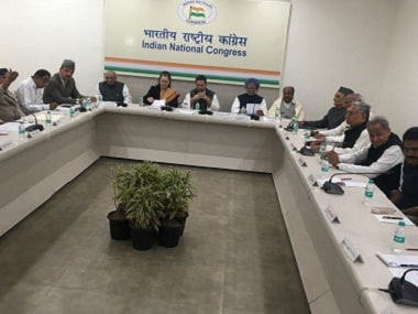 The Congress Steering Committee in session. Firstpost/Debobrat Ghose