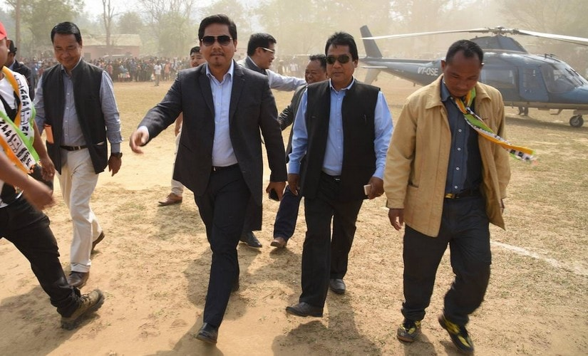 NPP chief Conrad Sangma during a campaign in West Garo Hills. Team101 Reporters