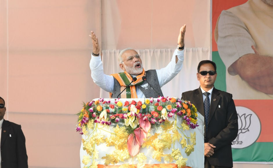 The prime minister also accused the Congress and Left parties of having a