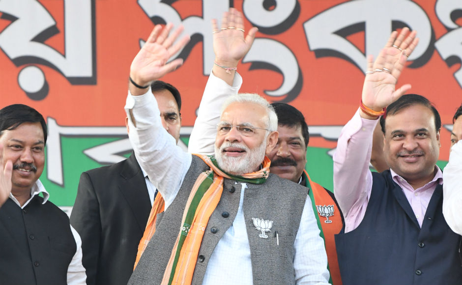 BJP's national general secretary Ram Madhav, Assam minister Himanta Biswa Sarma, who is the party's Tripura election in-charge, and state president Biplab Kumar Deb among others also spoke at the rallies. Team 101Reporters/Abhisek Saha
