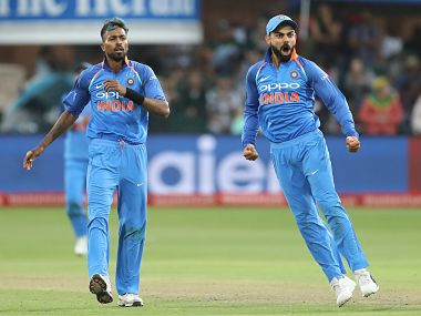 Virat Kohli has targeted winning the World Cup in 2019 after winning India's first ODI series in South Africa. Image courtesy: Twitter @BCCI