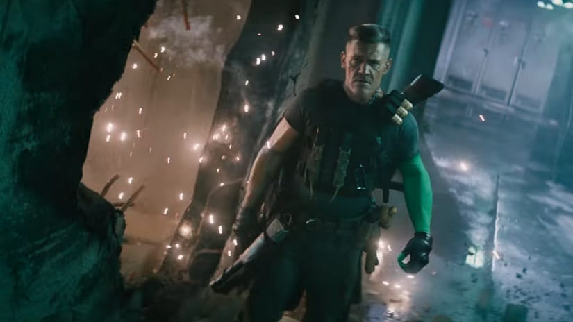 Still from Deadpool 2 featuring Josh Brolin as Cable. YouTube screengrab
