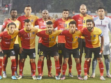 East Bengal are currently six points behind table leaders Minerva Punjab. Image credit: Twitter/@eastbengalfc