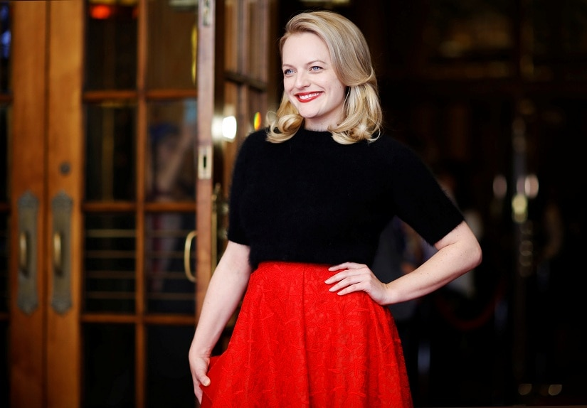 """Actor Elisabeth Moss arrives on the red carpet for the film """"The Square"""" at the Toronto International Film Festival (TIFF) in Toronto, Canada, September 10, 2017. REUTERS/Mark Blinch - RC1213AE1CD0"""