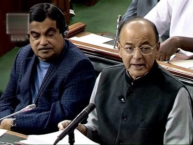 Union Finance Minister Arun Jaitley presents the Union Budget at Parliament. PTI