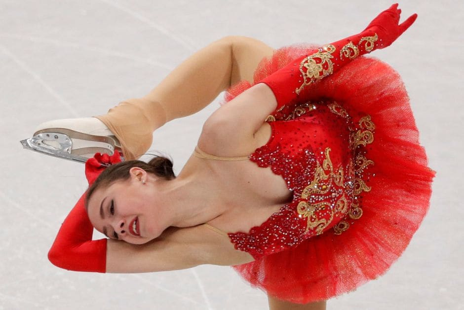 European champion Alina Zagitova competes in the Team Event Women's Single Skating Free Skating competition. The Olympic Athletes from Russia, with a stunning free skate by 15-year-old Alina Zagitova, were guaranteed silver, the team's second medal of the Pyeongchang Games. Reuters