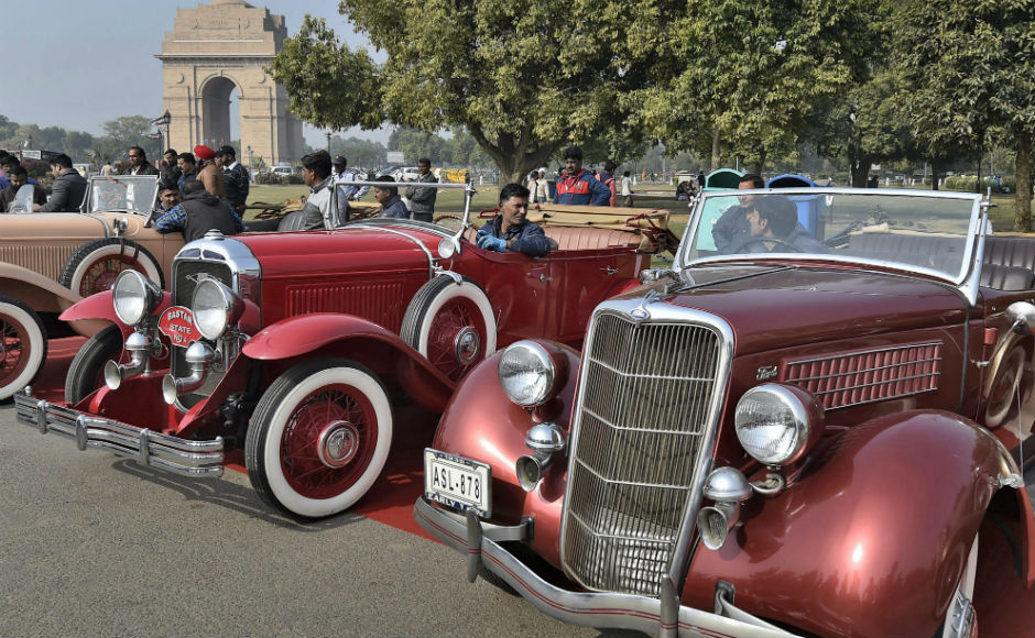 Vintage car rally organised in Delhi: Over 125 automobiles, 35 two-wheelers parade on streets