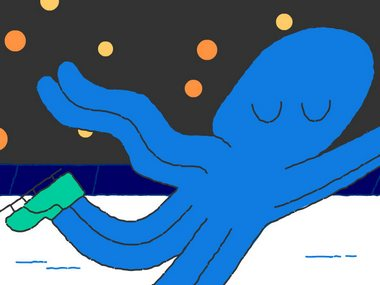 On Day 15, the Google Doodle Snow Games continue with a figure skating octopus attempting a 'double-quad'
