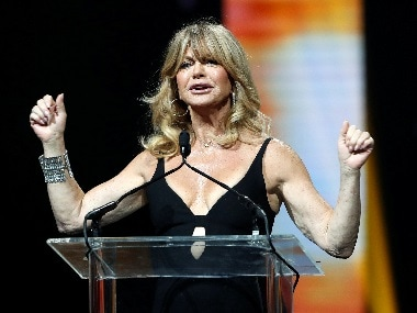 Oscar-winning actress Goldie Hawn says her stories of sexual harassment will 'top them all'