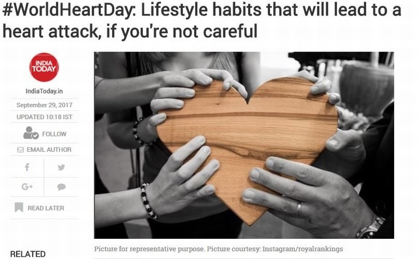 Lifestyle habits. Image credit: India Today
