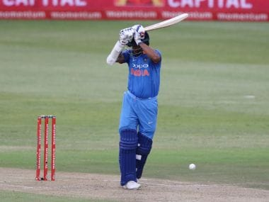 Lunch was taken at Centurion with India needing just 2 runs for victory in the 2nd ODI against South Africa. Twitter/@OfficialCSA