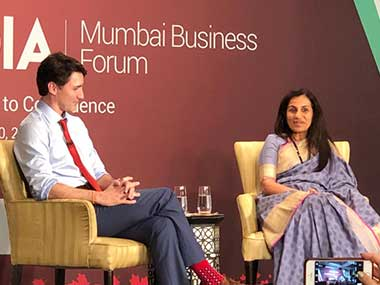 Justin Trudeau in India: Canadian PM stresses on reducing gender gap, lauds diversity in chat with Chanda Kochhar
