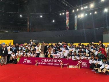 Khelo India School Games ended on Thursday with Haryana crowned champions. Image Courtesy: Twitter