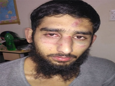 File image of one of the Kashmiri students assaulted in Haryana on Friday. News18