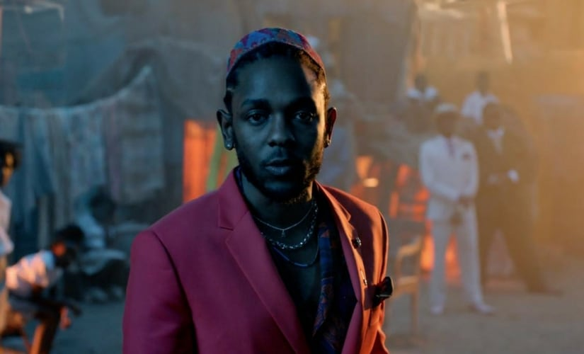 A still of Kendrick Lamar from the music video of 'All The Stars'/Image from YouTube.
