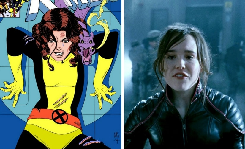 Kitty Pryde from the comics and Ellen Page as Kitty Pryde/Image from Twitter.