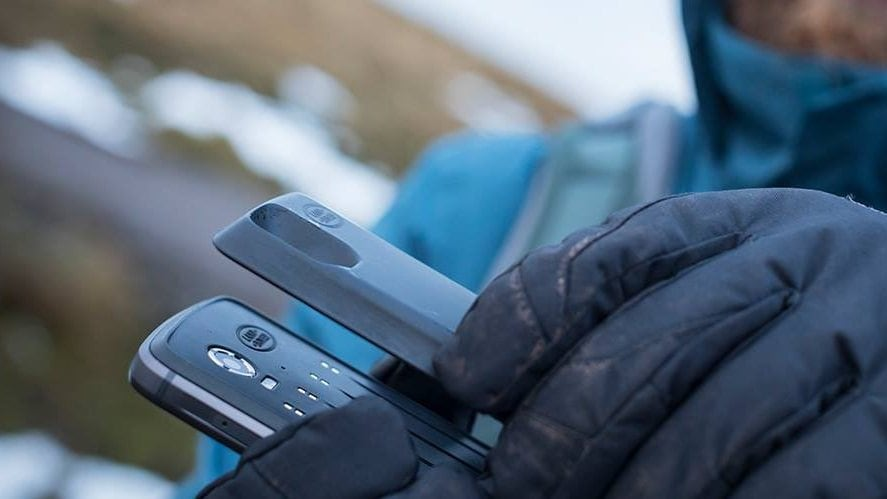 The Land Rover Explore will arrive with a magnetic back for mods. Image: GSMArena