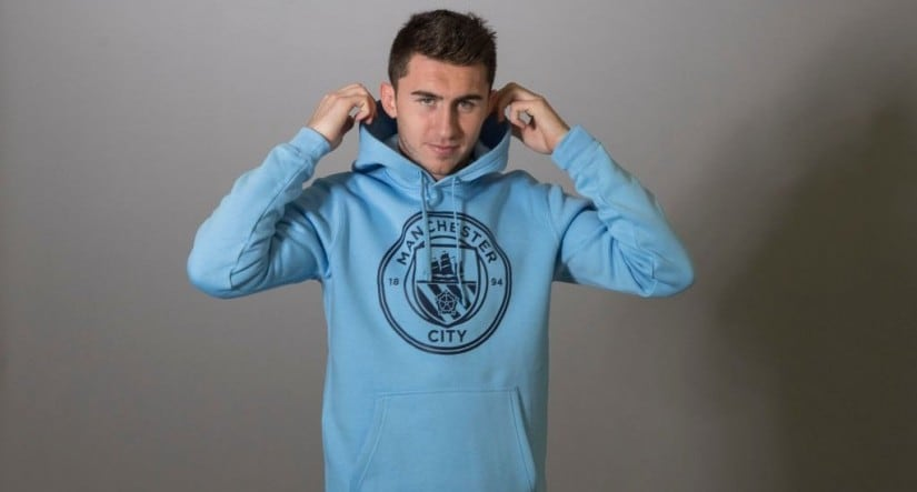 Manchester City signed 23-year-old French centre-half Aymeric Laporte from Athletic Bilbao. Image courtesy: Twitter/@ManCity
