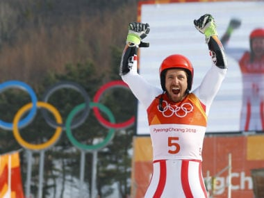 Winter Olympics 2018: Austria's Marcel Hirscher wins giant slalom for second gold at Pyeongchang Games