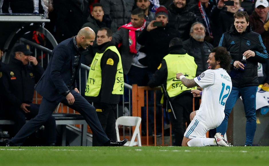 Ronaldo made it 2-1 in the 83rd minute before Marcelo sealed Madrid's win in the 86th minute. Reuters