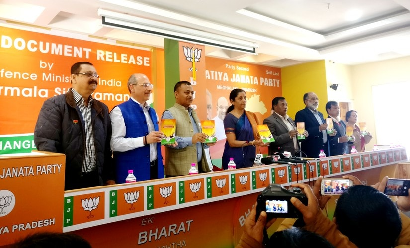 Meghalaya Election 2018: BJP promises pension, jobs and pukka roads in manifesto, keeps options open for post-poll alliances