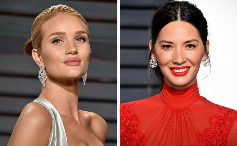 Rosie Huntington-Whiteley (left) and Olivia Munn (right). Source:http://us.niravmodi.com/category/gallery/