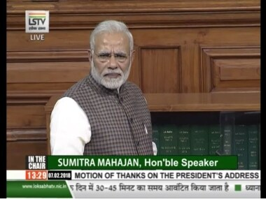 File image of Prime Minister Narendra Modi in Parliament. Twitter/@BJP4India
