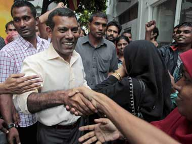 File image of Maldives president Mohamed Nasheed. PTI