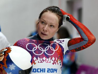 Olga Potylitsina competes at the women's skeleton event at the 2014 Sochi Olympics. REUTERS