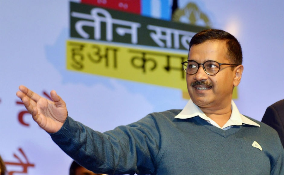 The Aam Aadmi Party government completed three years in Delhi on Wednesday and to mark its anniversary, Chief Minister Arvind Kejriwal and other Cabinet ministers addressed the public. PTI