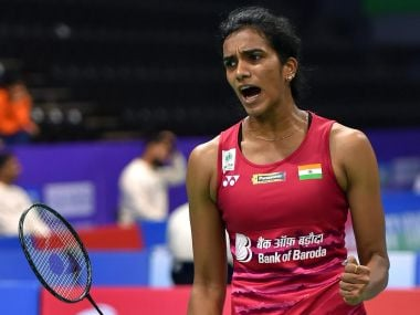 PV Sindhu celebrates a point against Beatriz Corrales during their quarter-final of the India Open 2018. PTI