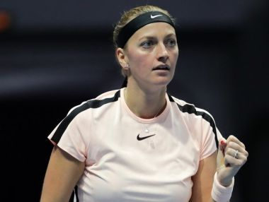 Petra Kvitova in action at St Petersburg. Image courtesy: Twitter/@Formula_TX