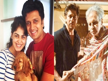 Ritiesh, Genelia's filmy throwback; Shah Rukh Khan visits Dilip Kumar: Social Media Stalkers' Guide