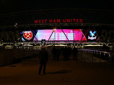 """Soccer Football - Premier League - West Ham United vs Crystal Palace - London Stadium, London, Britain - January 30, 2018 General view outside the stadium before the match REUTERS/David Klein EDITORIAL USE ONLY. No use with unauthorized audio, video, data, fixture lists, club/league logos or """"live"""" services. Online in-match use limited to 75 images, no video emulation. No use in betting, games or single club/league/player publications. Please contact your account representative for further details. - RC129858BBD0"""