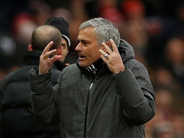 """Soccer Football - Premier League - Manchester United vs Huddersfield Town - Old Trafford, Manchester, Britain - February 3, 2018 Manchester United manager Jose Mourinho Action Images via Reuters/Lee Smith EDITORIAL USE ONLY. No use with unauthorized audio, video, data, fixture lists, club/league logos or """"live"""" services. Online in-match use limited to 75 images, no video emulation. No use in betting, games or single club/league/player publications. Please contact your account representative for further details. - RC1D82CA32A0"""