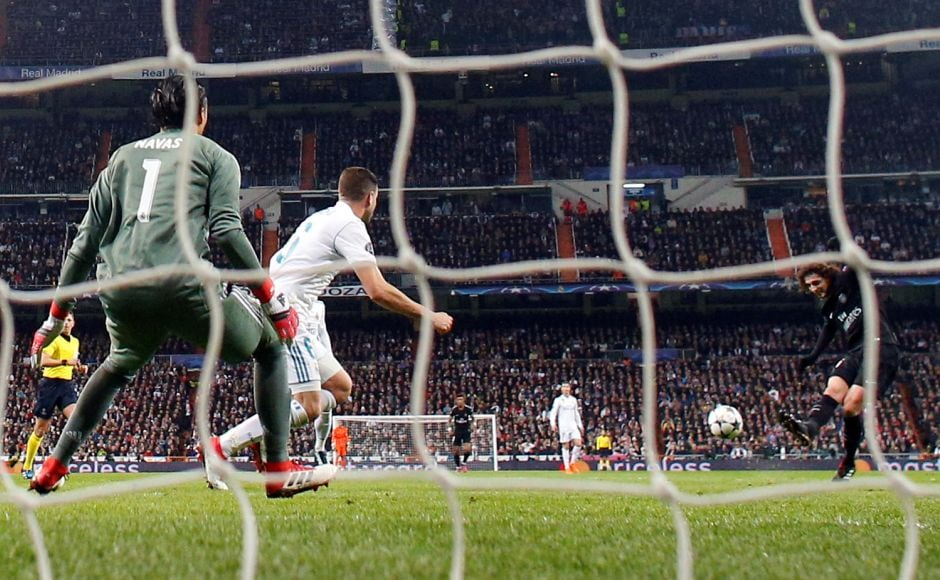 Adrien Rabiot gave PSG the lead in the 33rd minutewith a side-footed shot past Keylor Navas. Reuters