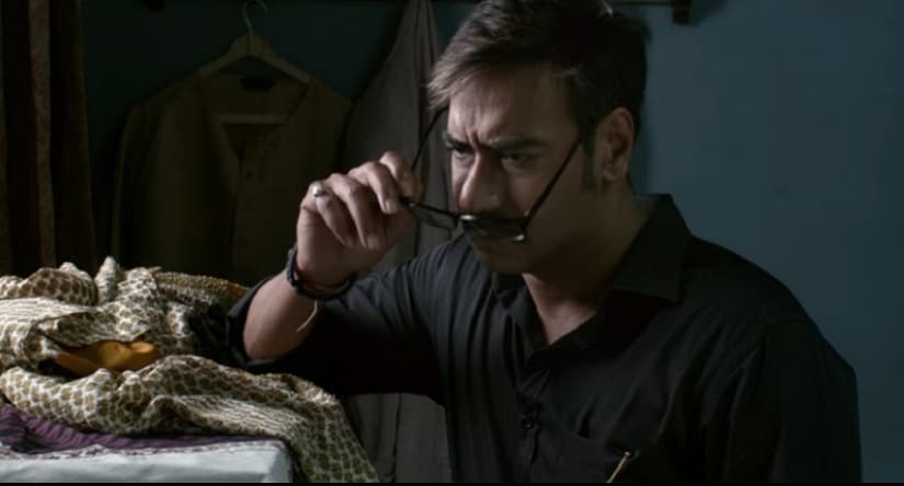 Ajay Devgn in a still from Raid. YouTube