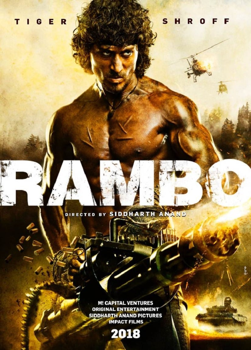 Poster of the Rambo remake starring Tiger Shroff.