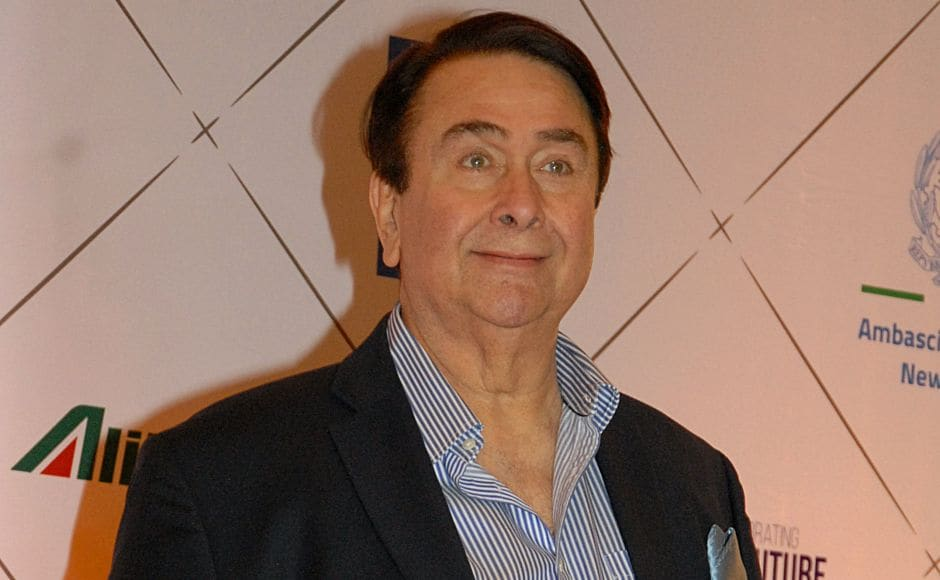 Actor Randhir Kapoor — father of Kareena Kapoor — attends the Volare Awards. AFP