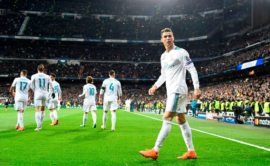 Cristiano Ronaldo scored his 10th and 11th Champions League goals of the season as Real Madrid came back from a goal down to win against Paris Saint- Germain. Image courtesy: Twitter @ChampionsLeague